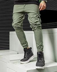 شلوار اسلش سبز مردانه مدل KOMBO